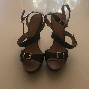 GUC Charles & Keith black strappy heels